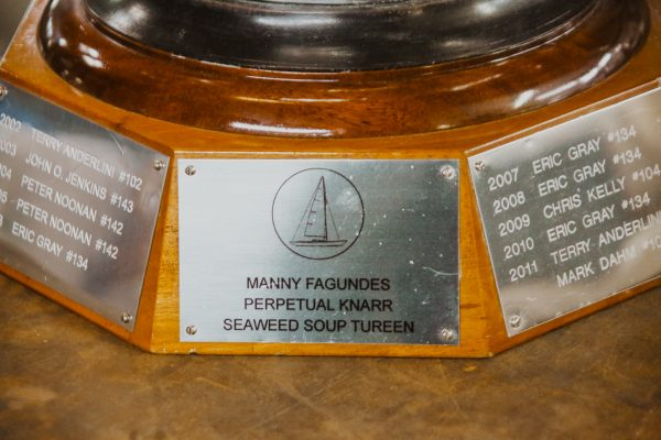 Biro and Sons, expert silversmiths in San Francisco, restored the Golden Gate Yacht Club's historic trophy.