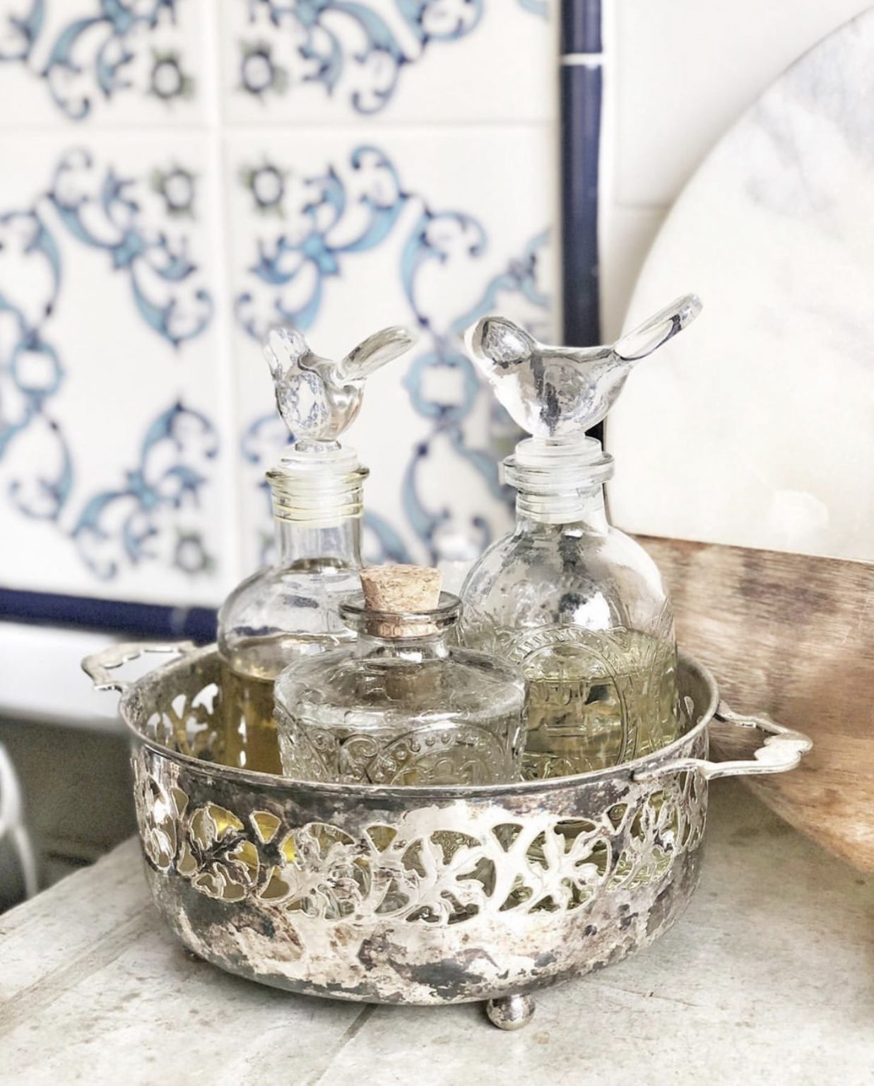 Make antique silver functional for everyday use.